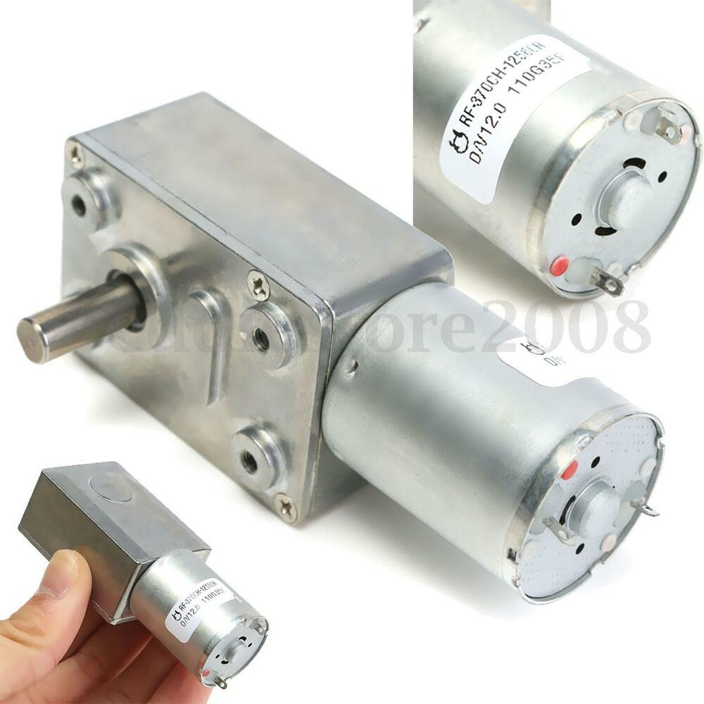 Dc 12v 2rpm reversible high torque turbo worm mental for High torque electric motor
