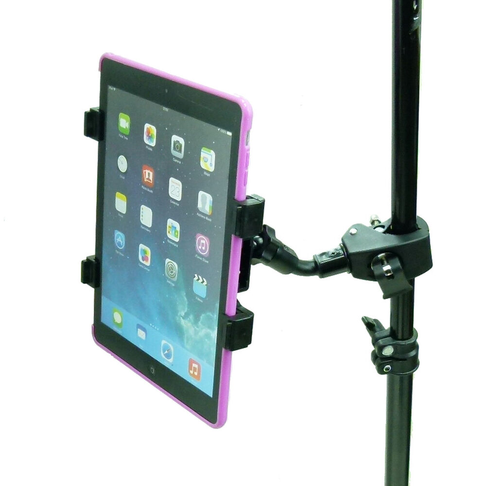 compact quick fix music mic stand tablet holder for apple ipad air pro 9 7 5052010348288 ebay. Black Bedroom Furniture Sets. Home Design Ideas