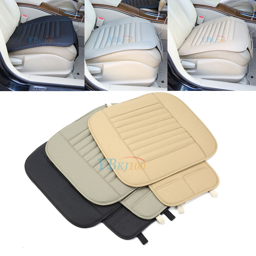 pu leather bamboo charcoal car seat cover pad mat for auto office chair cushion ebay. Black Bedroom Furniture Sets. Home Design Ideas
