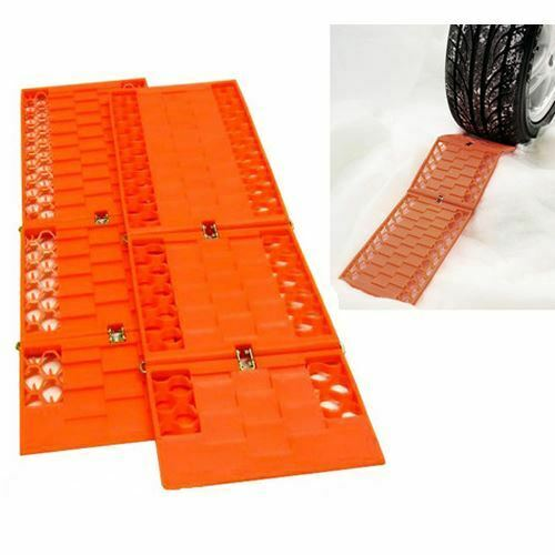Pair Tyre Wheel Grip Traction Mat Tracks For Snow Ice Mud