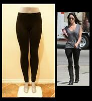 BLACK PANT LEGGINGS STRETCH WORKOUT DANCE CELEBRITY S, M, L, XL, 2X, 3X THICK