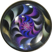 """1"""" Crystal Dome Button Mystical Spiral #13 -- Gorgeous! FREE US SHIPPING"""