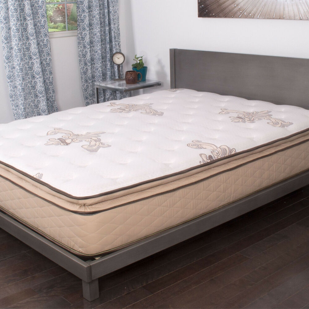 New nuform quilted pillow top 11 inch short queen size rv foam mattress trizone ebay Queen mattress sizes