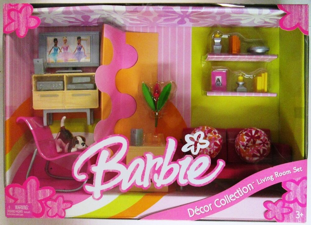 Barbie Living Room Set Decor Collection New Ebay