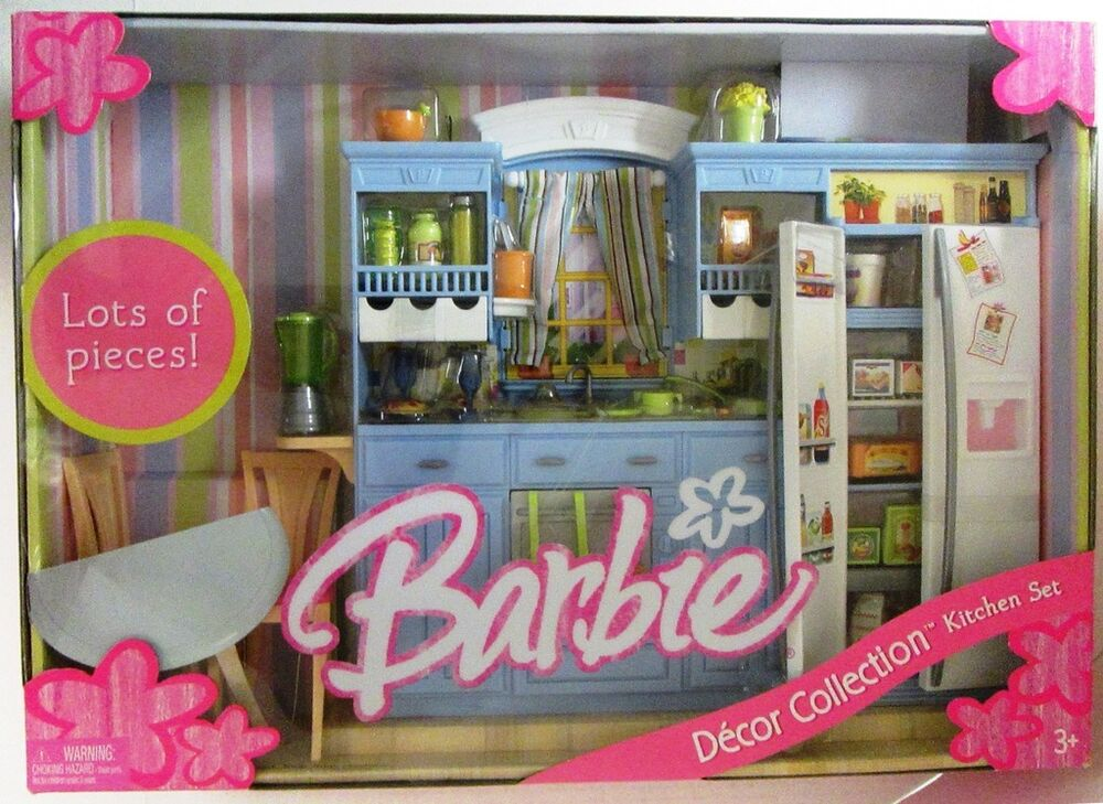 barbie kitchen set decor collection new ebay