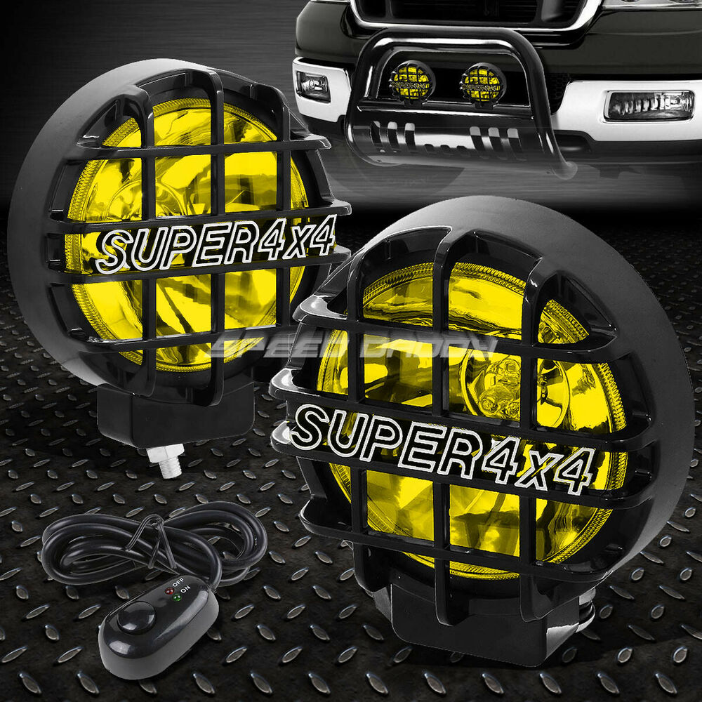 6 Quot Round Black Housing Yellow Fog Light Offroad Super 4x4