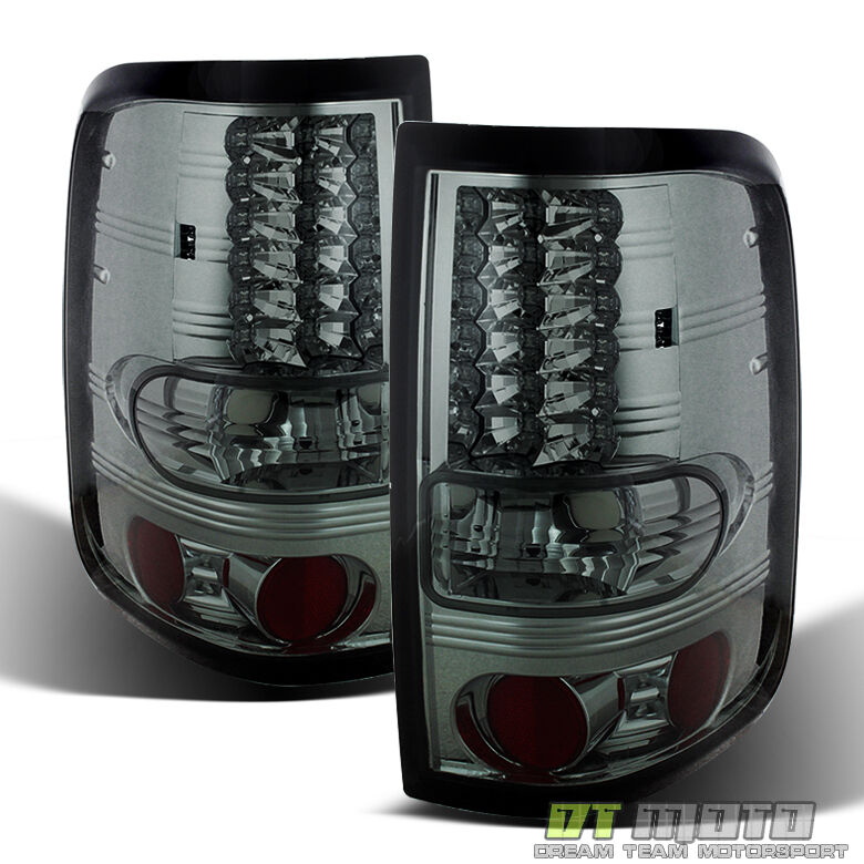 smoked 2004 2008 ford f150 f 150 philips lumileds led tail lights. Black Bedroom Furniture Sets. Home Design Ideas
