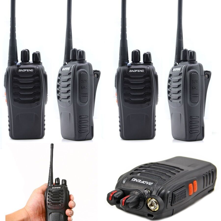 4pcs walkie talkie 2way radio uhf 400 470mhz 16ch 5w long. Black Bedroom Furniture Sets. Home Design Ideas