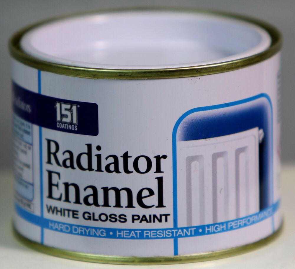 Radiator enamel white gloss paint indoor outdoor top coat painting 180 ml ebay - Exterior white gloss paint image ...