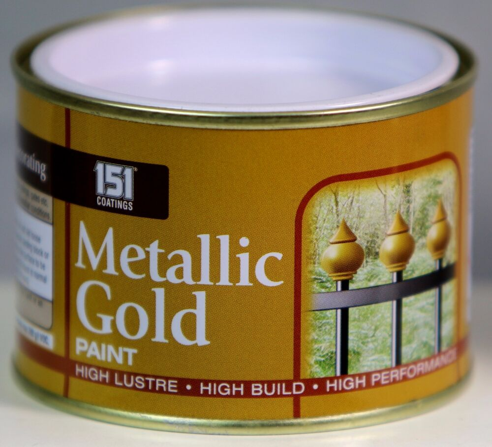 Metallic Gold Paint Indoor Outdoor Top Coat Painting High Lustre 180 Ml Ebay