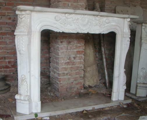 Classic french design marble fireplace mantel and surround features solid block ebay - Solid stone fireplace mantels with nice appearance ...