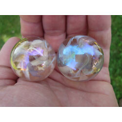 Kyпить 2 BOULDERS 35mm PINK FAIRY Marbles glass ball jellyfish iridescent Giant LARGE на еВаy.соm