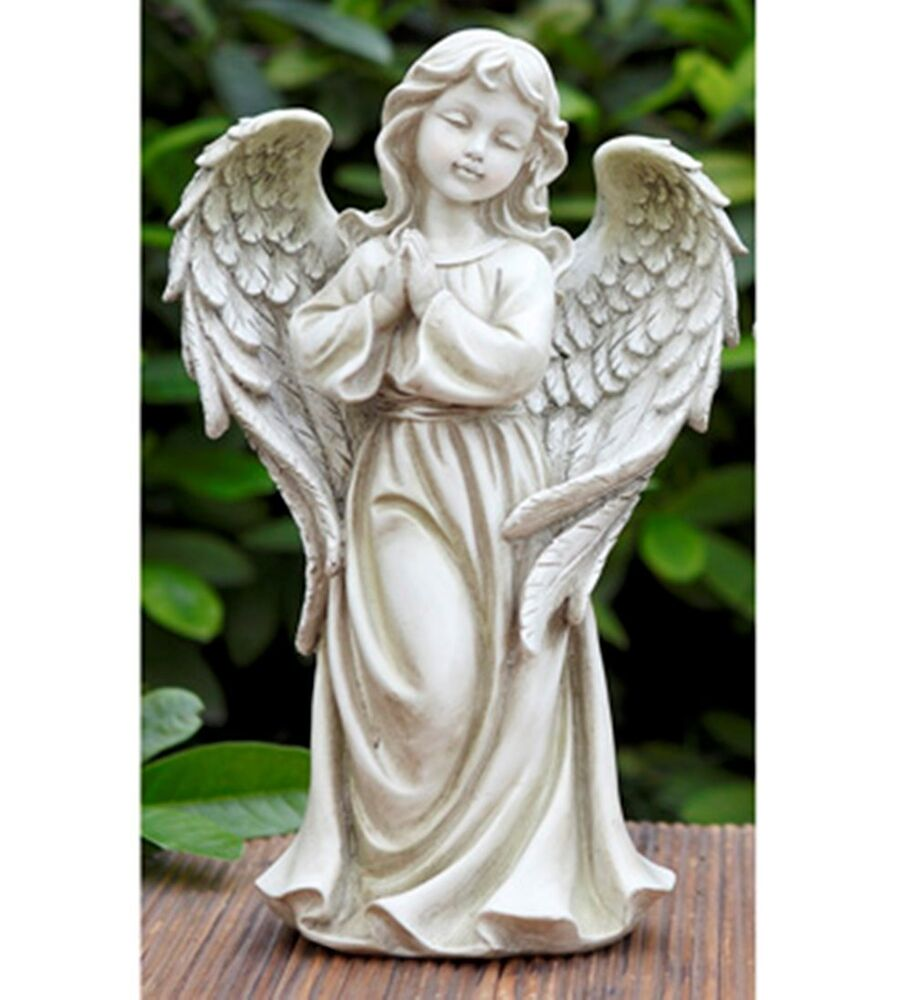 Praying angel garden statue outdoor decor ebay for Angel outdoor decoration