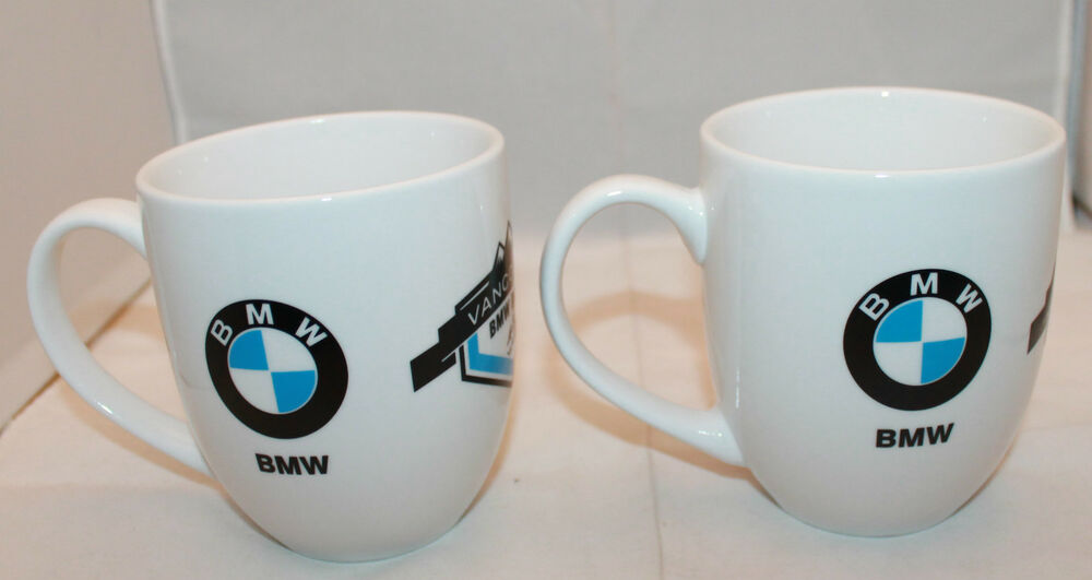 vancouver bmw ducati car dealer logo 2 white coffee tea mug cups