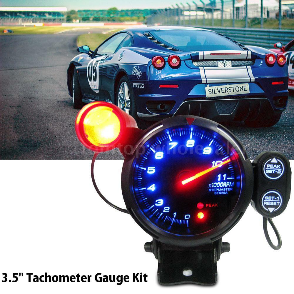 3 5 tachometer gauge kit led 11000 rpm auto meter with. Black Bedroom Furniture Sets. Home Design Ideas