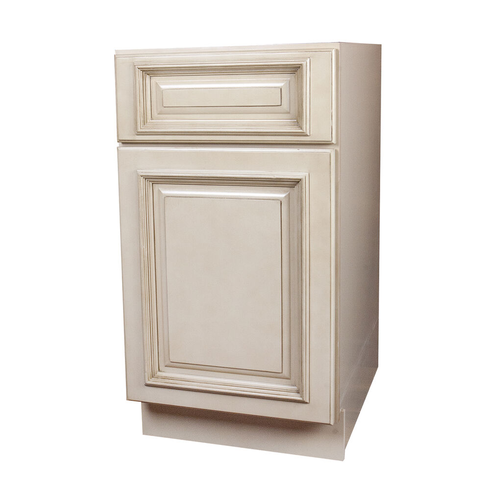 Tuscany white kitchen base cabinets ebay for Kitchen cabinets ebay