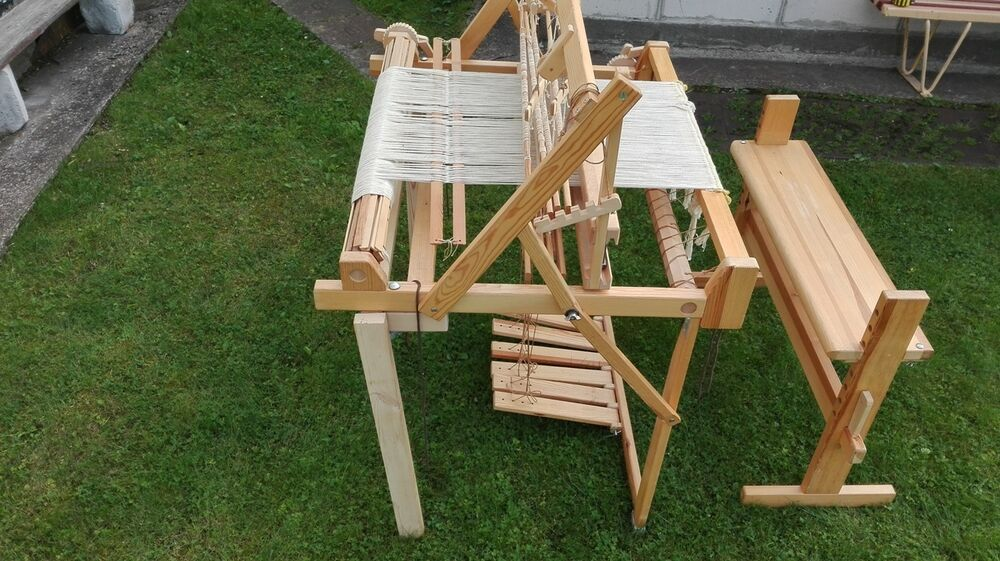 Large Sweden Folding Floor Weaving Loom Ebay