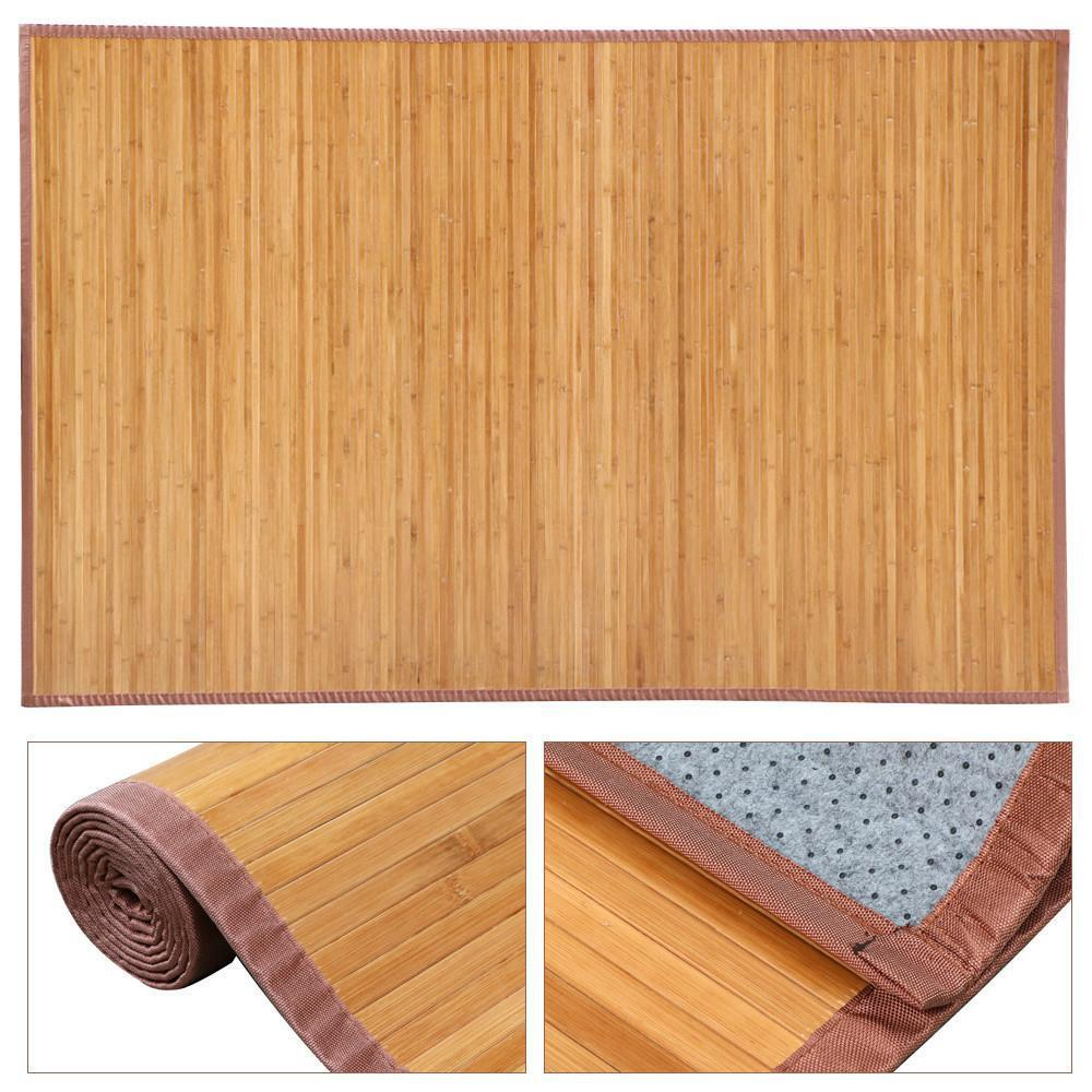 Natural Bamboo Wood Area Rug Carpet 4' X 6'/5' X 8' For