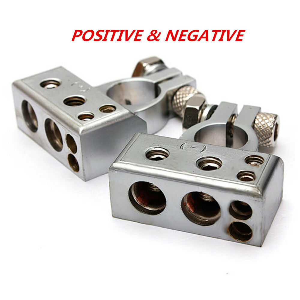 Car Battery Connectors : Car battery terminal clamp copper alloy connector with