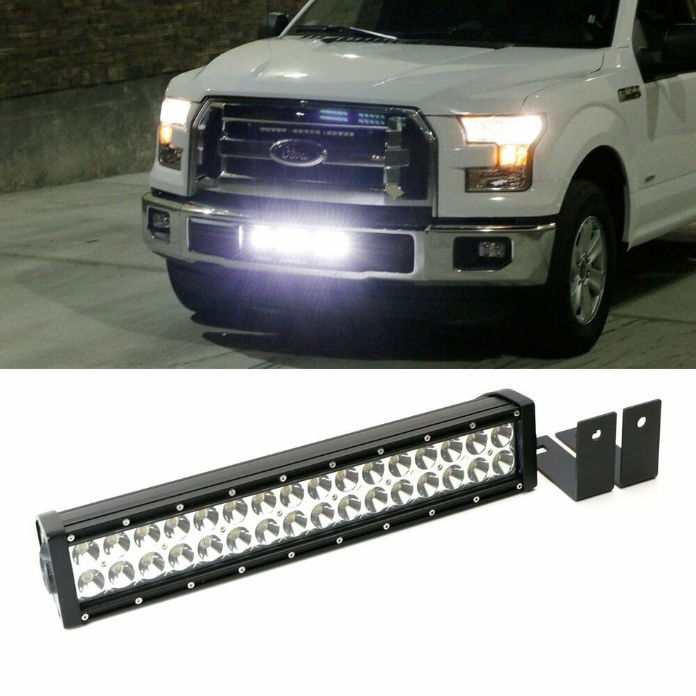 complete lower bumper grill mount led light bar system for. Black Bedroom Furniture Sets. Home Design Ideas
