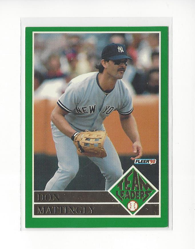 acfa7dded5 Details about 1992 Fleer Team Leaders #1 Don Mattingly Yankees