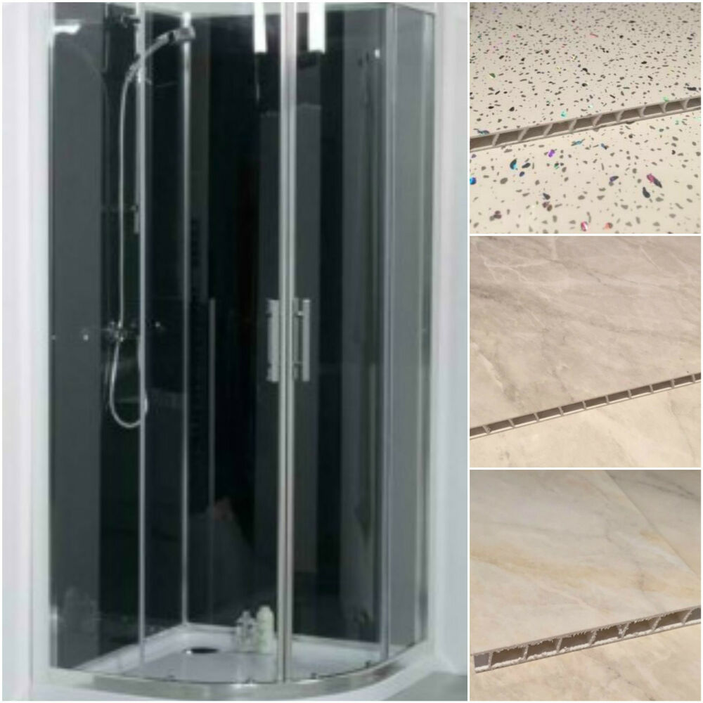 Shower Wall Panel Kit Pvc Wet Wall Panels 1000 X 2400mm Bathroom Cladding Kit Ebay