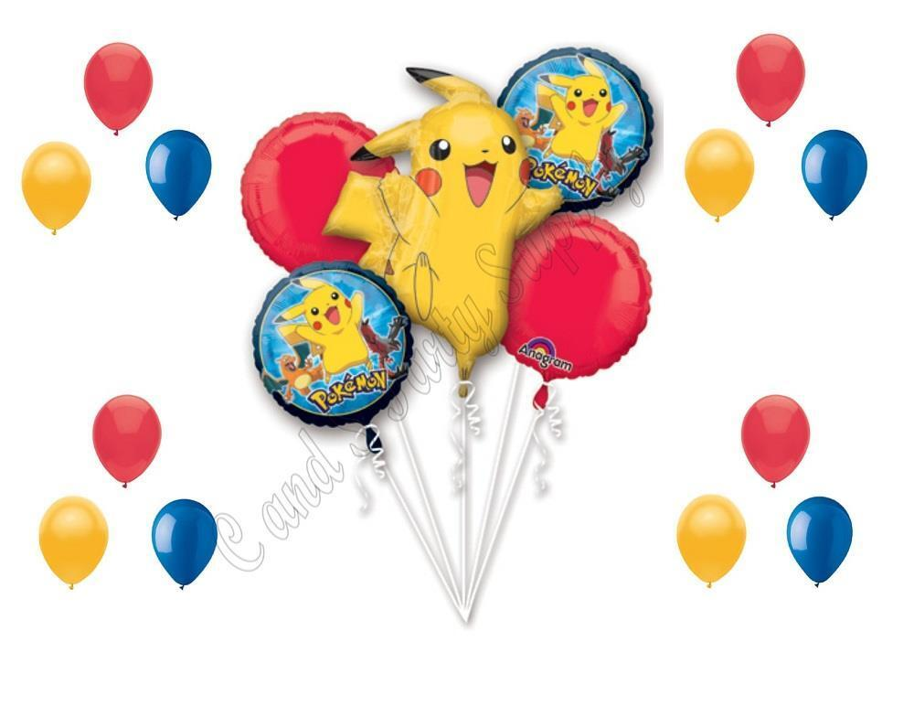 Pokemon go birthday party balloons decoration supplies for Balloon decoration kits