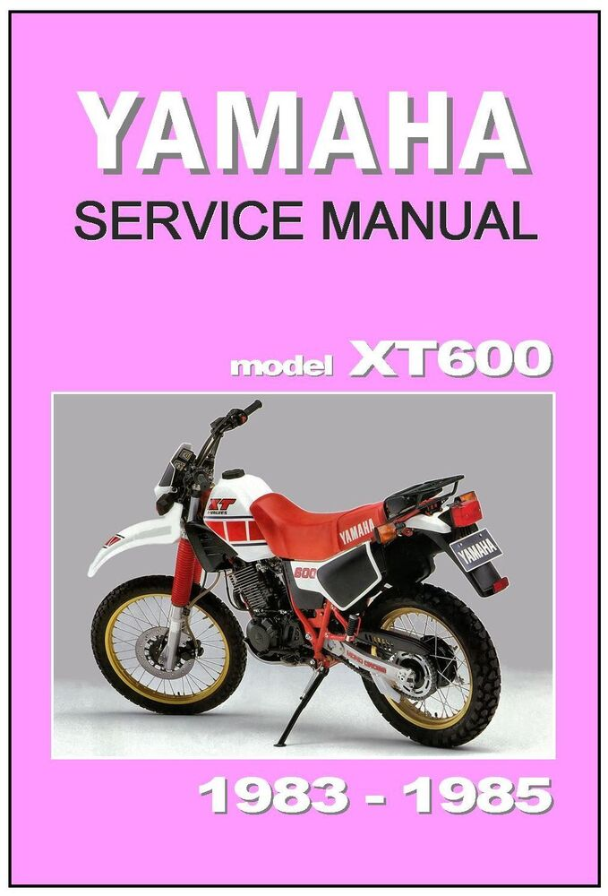 yamaha workshop manual xt600 1983 1984 1985 maintenance. Black Bedroom Furniture Sets. Home Design Ideas