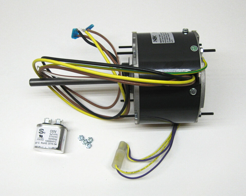 Ac air conditioner condenser fan motor 1 6 hp 1075 rpm 230 Ac motor 1 hp