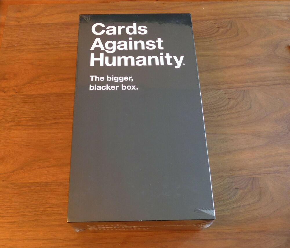 Cards Against Humanity - The New Bigger Blacker Box - Brand New ...