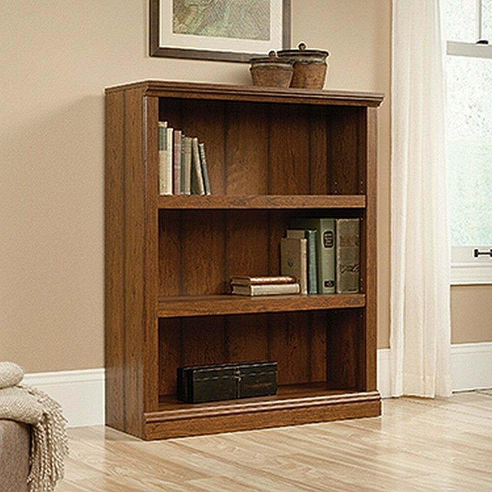 Sauder 416348 3 Shelf Bookcase Washington Cherry Finish