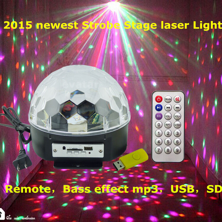 New Projector Dj Disco Led Light Mp3 Remote Stage Laser