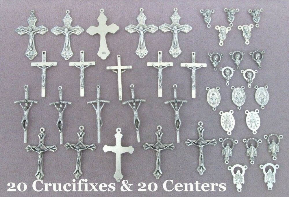 40 Crucifixes Centers Centerpieces Making Rosary Italian