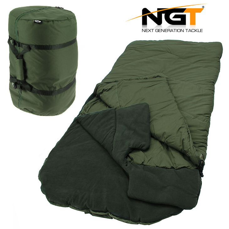NGT 5 Season Warm Sleeping Bag For Carp Fishing Beds Camping High Tog Rating With Compression