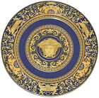 Rosenthal Versace Medusa Blue 2 PIECES Service Plate Charger 12