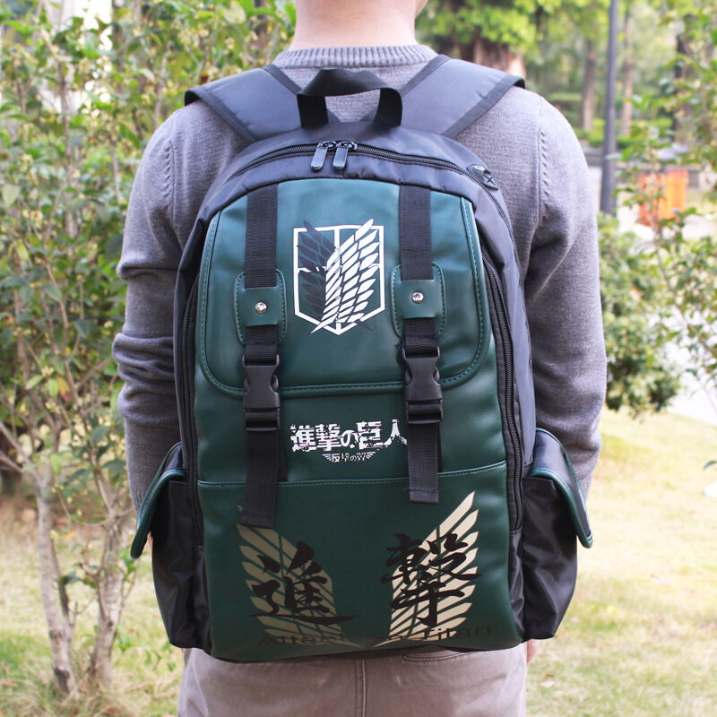 anime attack on titan no kyojin scouting backpack