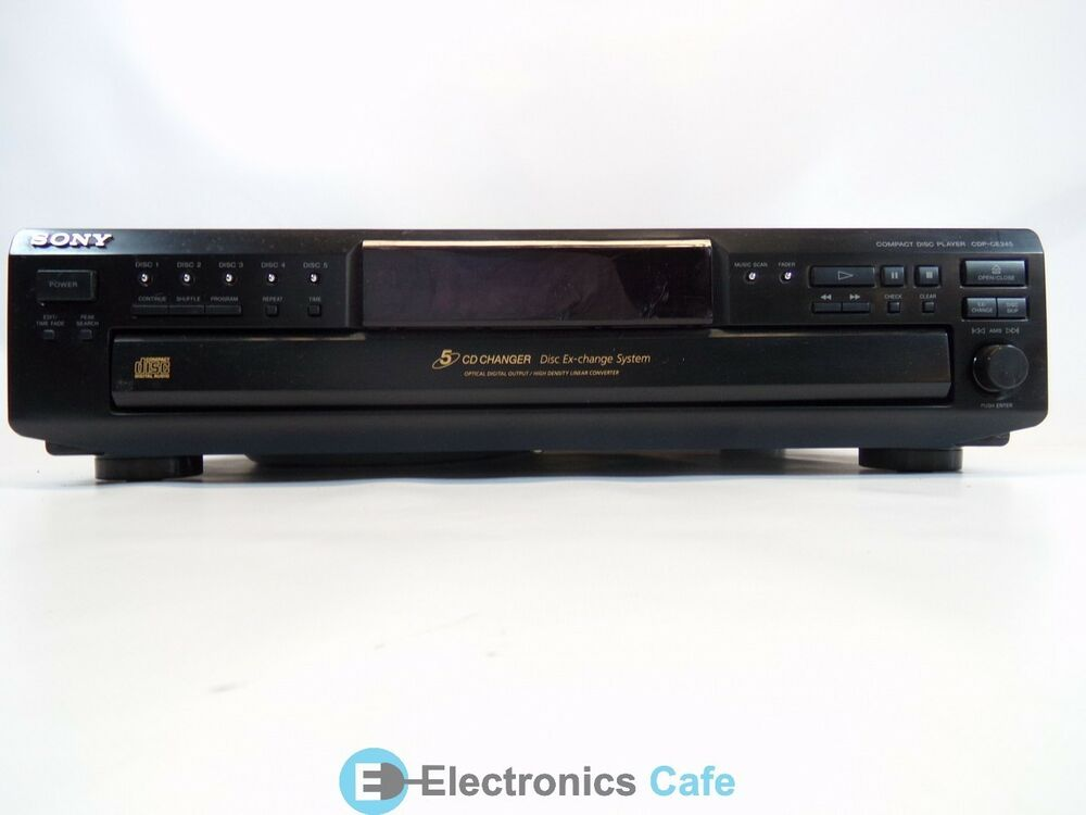 sony cdp ce245 5 cd changer stereo audio system no remote. Black Bedroom Furniture Sets. Home Design Ideas