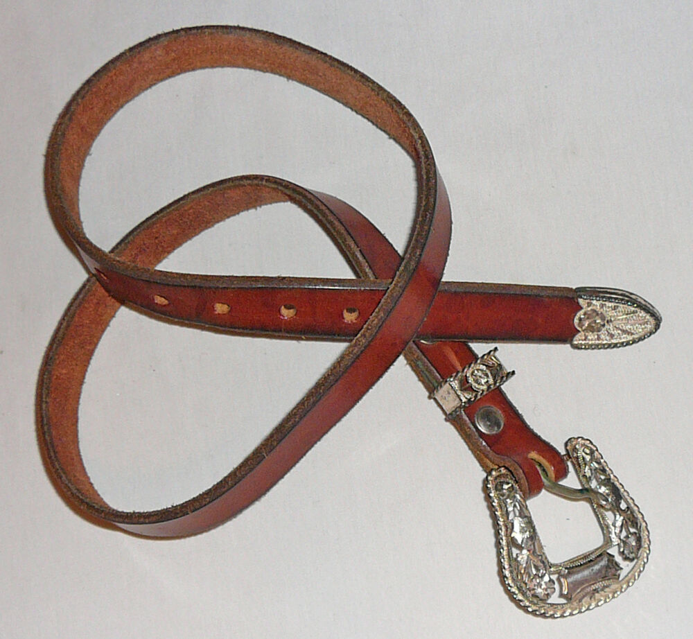 western sterling and leather belt custom made and