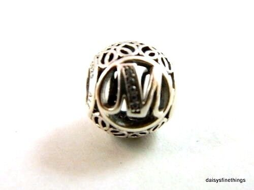 New Authentic Pandora Charm Letter M  791857cz P
