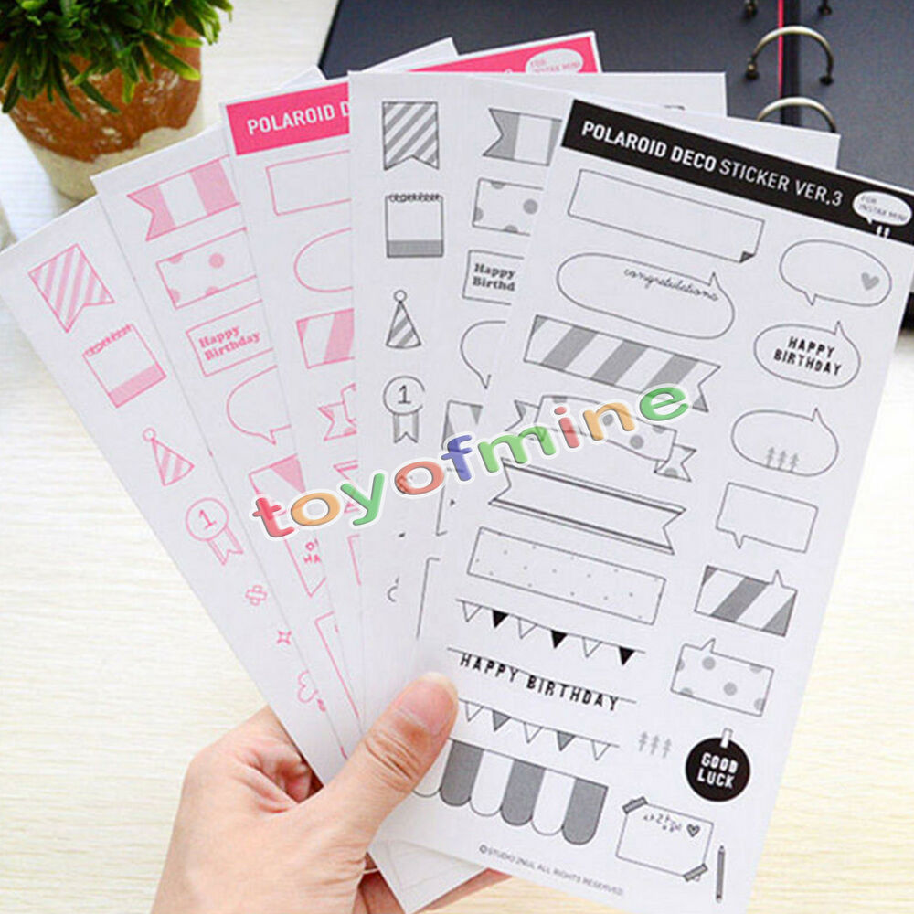 Diy Calendar Diary : Sheets diy calendar photo paper sticker scrapbook diary