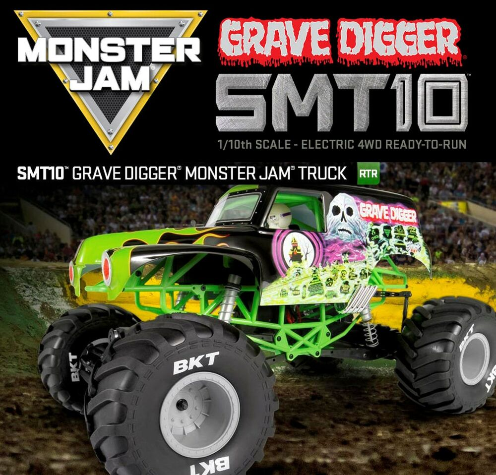 NEW Axial 1/10 Grave Digger 4WD Monster Jam RTR RC Truck ...