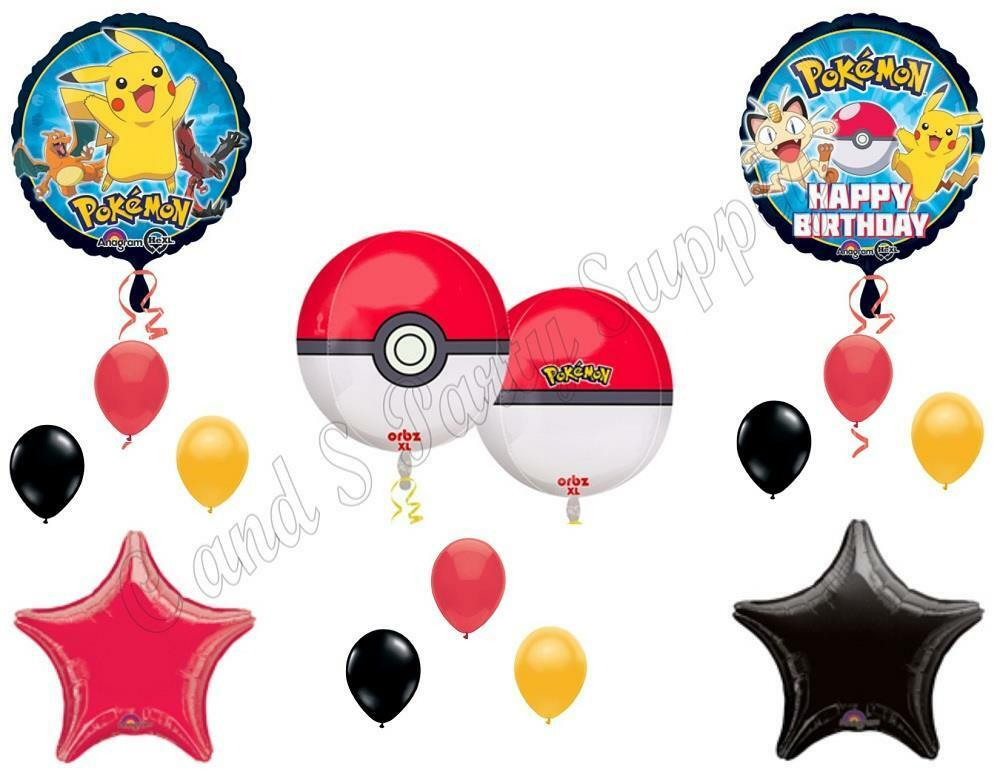 Orbz pokemon go birthday party balloons decoration for Balloon decoration kits