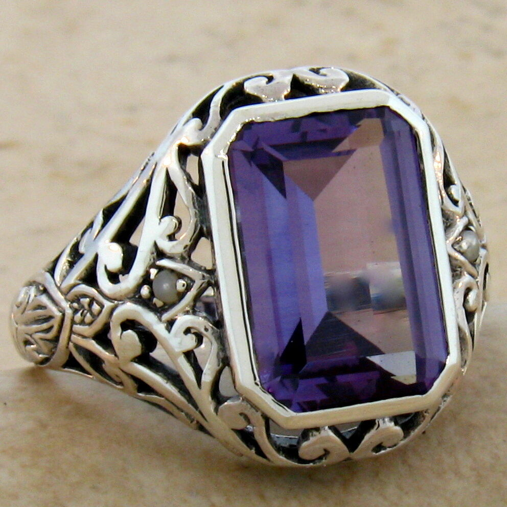 Vintage Alexandrite Rings 5 CT. COLOR CHA...