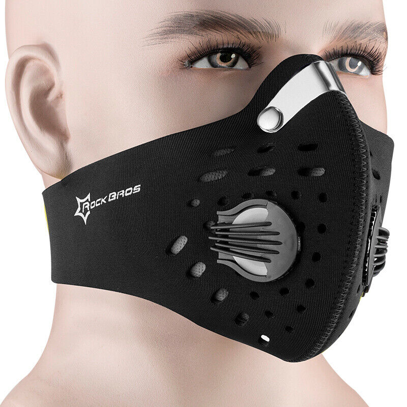 rockbros cycling anti dust half face mask with filter. Black Bedroom Furniture Sets. Home Design Ideas