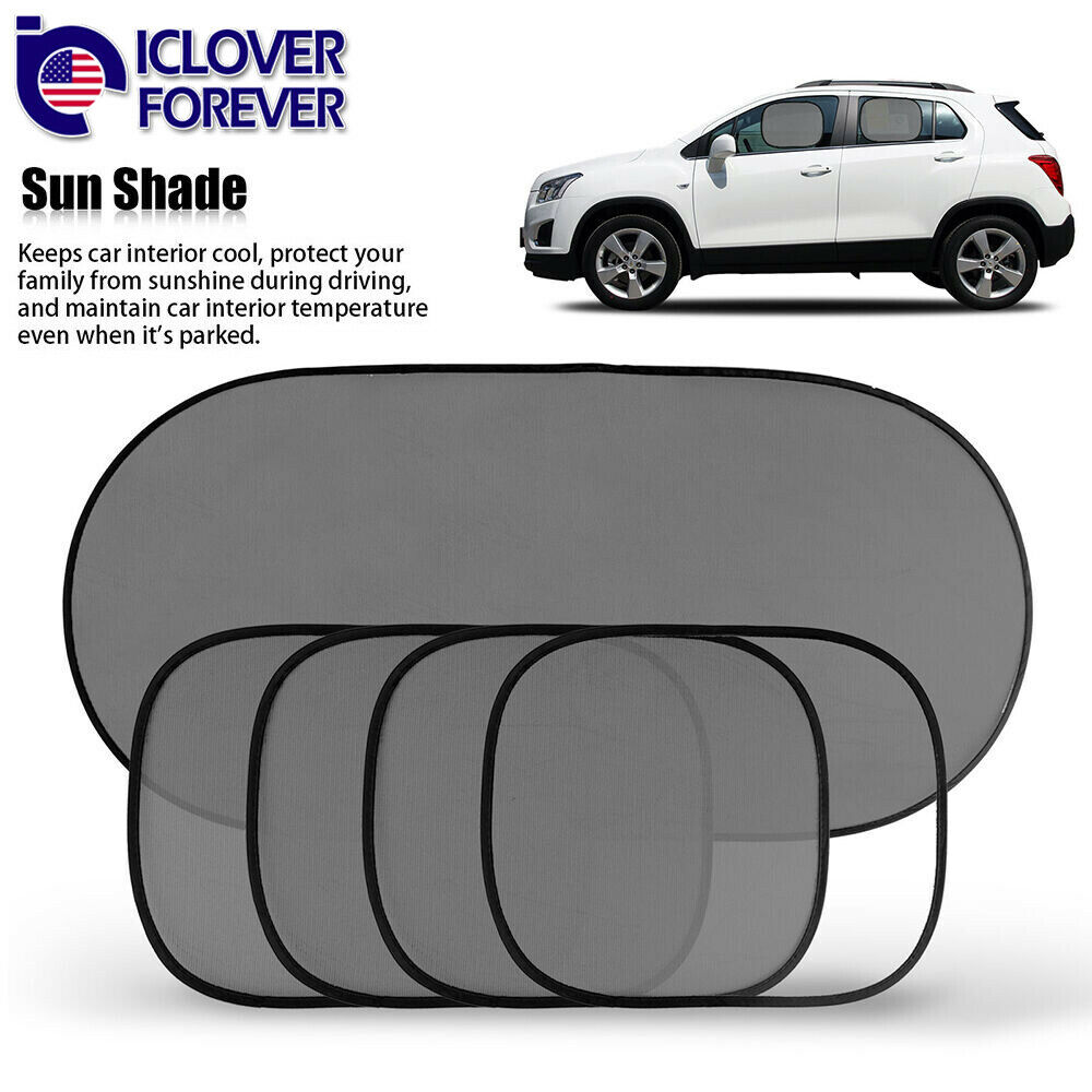 5pcs car side rear window screen sun shade mesh cover windshield sunshade visor ebay. Black Bedroom Furniture Sets. Home Design Ideas