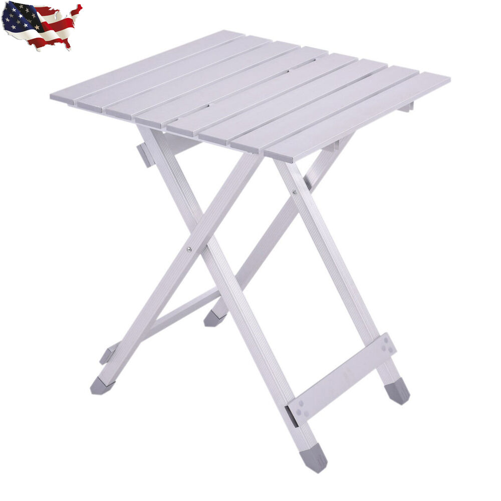 Portable Folding Table Roll Up Aluminum Alloy Picnic