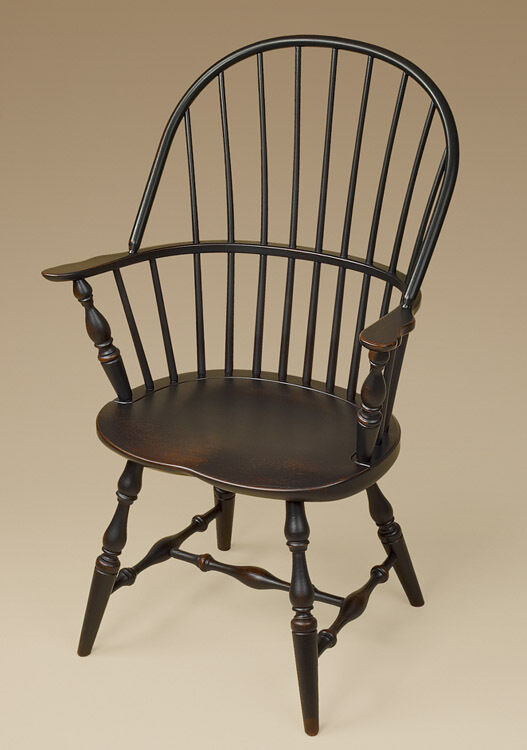 windsor chair with arms sack back windsor arm chair black dining or kitchen 22157 | s l1000