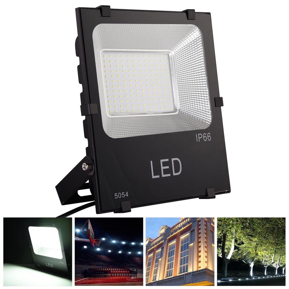 100w Led Flood Light Cool White Waterproof Ip66 Outdoor