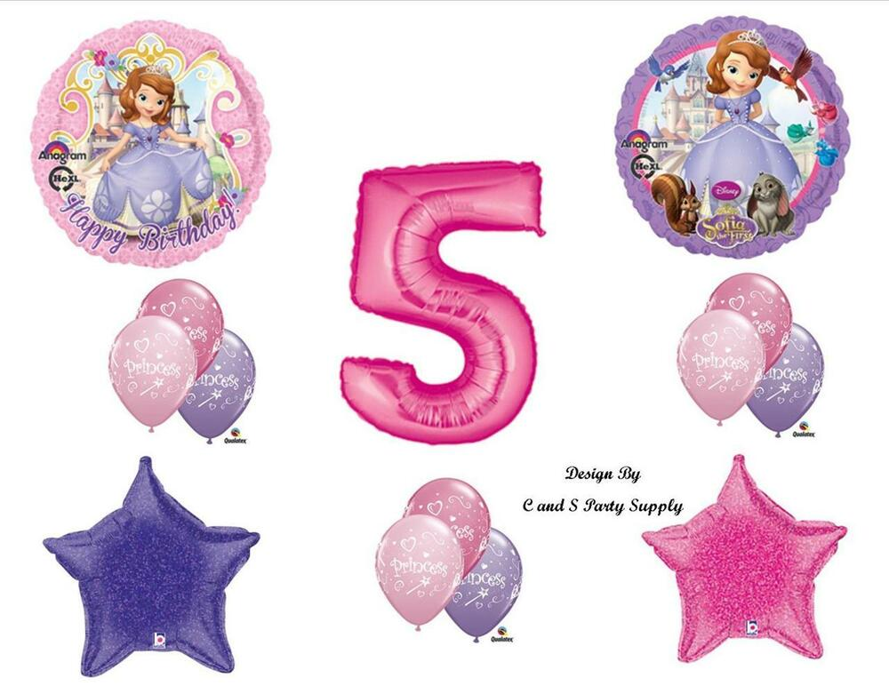 Details About SOFIA THE FIRST FIFTH 5TH HAPPY BIRTHDAY PARTY BALLOONS Decorations Supplies
