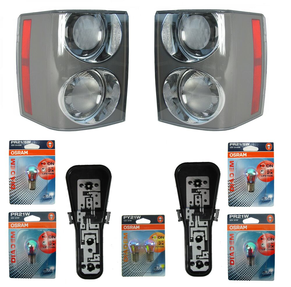 Pair Of Clear Front Indicator Lights For Land Rover: PAIR Of Supercharged Rear Lights For Range Rover L322